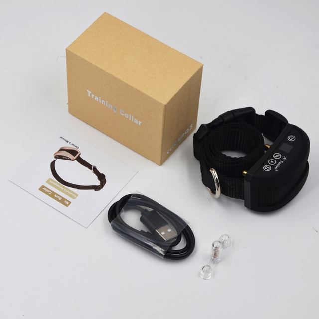 anti bark anti barking collar vibration electric shock sound Automatic collar for pet dogs IP7 waterproof dog training collars 5