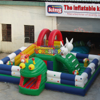 Customized Small Inflatable fun city