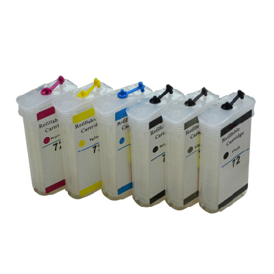 ФОТО 1 Set Ink Refill Kit For HP 72 Refillable Ink Cartridge With Chip For HP Designjet T610 T620 T770 T790 T1100 T1100PS T1120 T1200