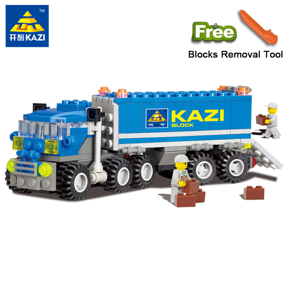 KAZI 6409 City Dumper Truck Building Blocks Set Model 163+pcs Compatible Legoe DIY Construction Bricks Play Toys For Children
