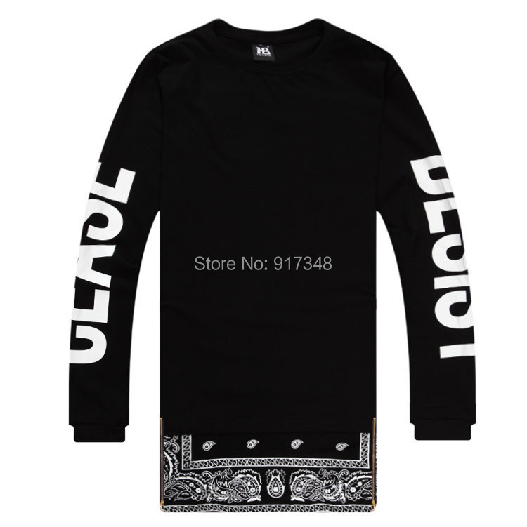 Hip hop tee cease desist t shirt long sleeve bandana print mens t hip hop tee cease desist t shirt long sleeve bandana print mens t shirt hi fashion tee with side zipper design in t shirts from mens clothing accessories thecheapjerseys Image collections