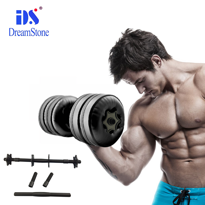 A pair/2 pcs Water Poured dumbbells for fitness Men home and outdoor sports equipment CE&Rosh Cetificate