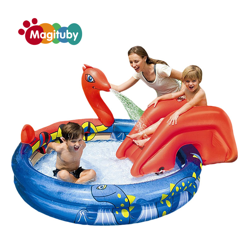 203cm Spring Eco-friendly PVC Kids Baby Inflatable Fashion Play Swimming Pool Piscina Children Kids Large Swim Boat S7002 381cm eco friendly pvc kids baby inflatable slide play swimming pool piscina children kids large swim boat s7010