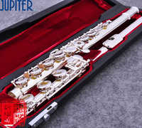 taiwan flute JUPITER JFL 711 RBES 17 open hole C tune E key Silver flute Musical instruments Professional flauta transversa