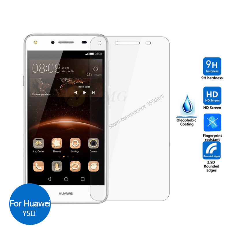 For Huawei Y5II Tempered glass Screen Protector 9h 2.5 Safety Protective Film on Y5 II Y 5 2 2nd CUN-L23 CUN L23 Dual Sim