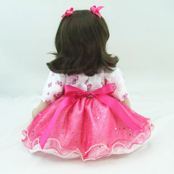 60cm Silicone Reborn Girl Baby Doll Toys