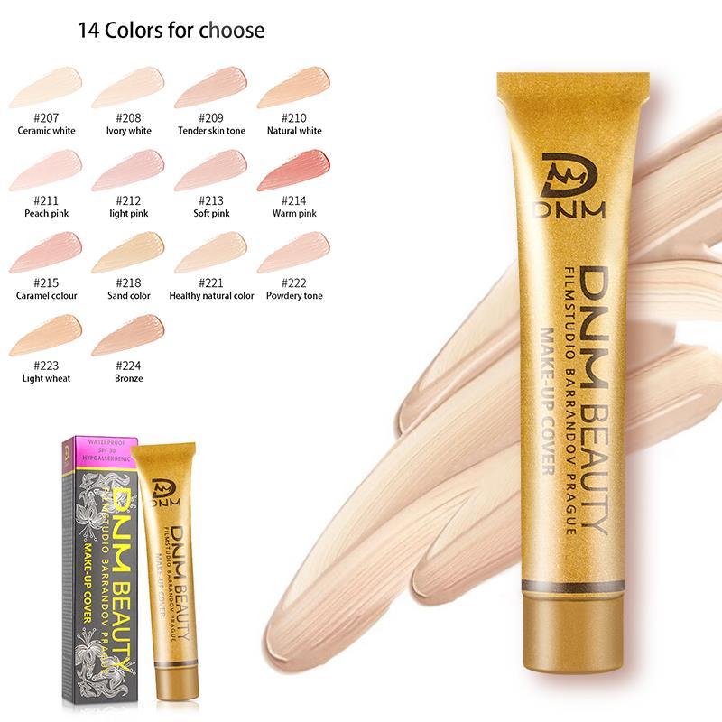 DNM Professional Tattoo Cover Concealer Cream Base Face Body Eyes Contouring Liquid Foundation Oil Control Waterproof Makeup