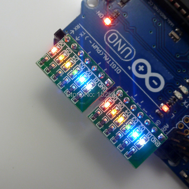 2pcs DC 3.3V 5V 12V 6bits Multicolor  Rapid Prototyping LED 2.54mm PIN 0603 Package for Arduino UNO MEGA2560 LoL Breadboard PCB