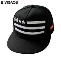 New Arrival 2014 Fashion Unisex Snapback Cap American Flags Pentagram Embroidery Casual Hip Hop Hats Baseball