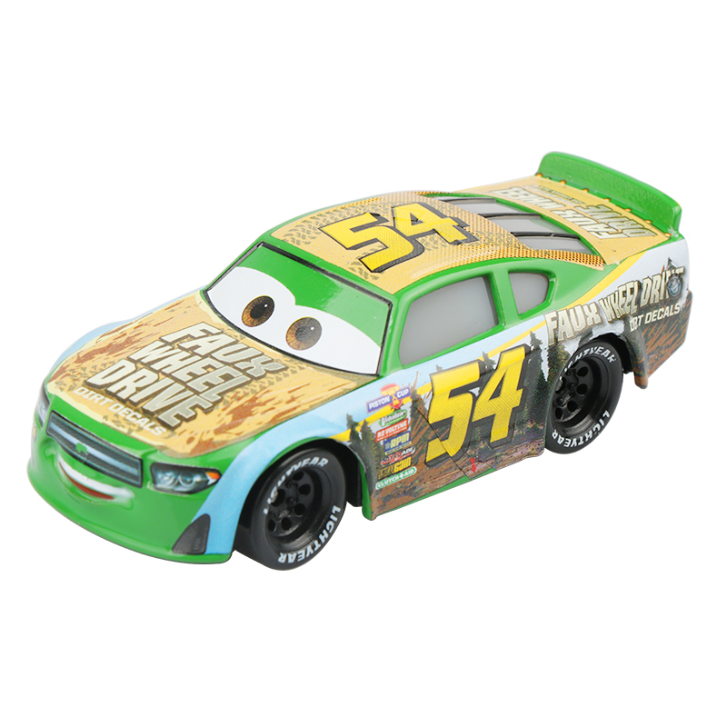 Disney Pixar Cars 3 New Role No.54 Faux Wheel Drive Lightning McQueen 1:55 Diecast Alloy Car Model Birthday Gift Toy For Boy Kid