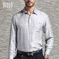 De lujo de estilo americano camisas de los hombres camisa de seda pura 100% seda jacquard chemise homm camiseta masculina camisa masculina LT380