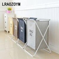 LRAOZOYM Laundry Basket Storage Bags Collapsible Toys Clothes Organizer Linen Large Capacity Laundry Bag 38*34.5*57.5cm LR211