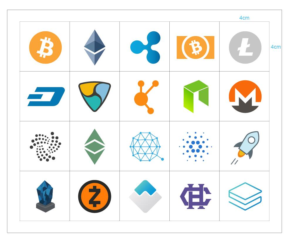 Cryptocurrency Stickers