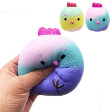 Besegad Slow Rising Rebound Squishy Chick Birds Squishi Cartoon Animal Squeeze Chicken Ball Decompression Relieves Stress Toy(China)
