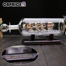 Bote de cristal con Base de madera, adornos decorativos para habitación, decoración Vintage para el Hogar, accesorios de decoración para el Hogar, BLPLP FC