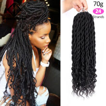 Spring sunshine Crochet Hair Extensions Bohemian Faux Locs Curly Crochet Braids Braiding Hair Bulk Synthetic Hair Ombre Braids(China)