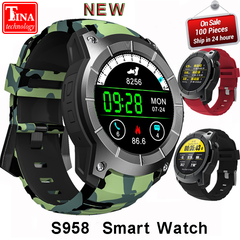 Origina Heart Rate Monitor Sport Waterproof SIM Card S958 GPS Smart Watch Support Bluetooth 4.0 Smartwatch for Android IOS Phone s958 gps smart watch heart rate monitor sport ip68 waterproof support sim card bluetooth 4 0 smartwatch for android ios phone