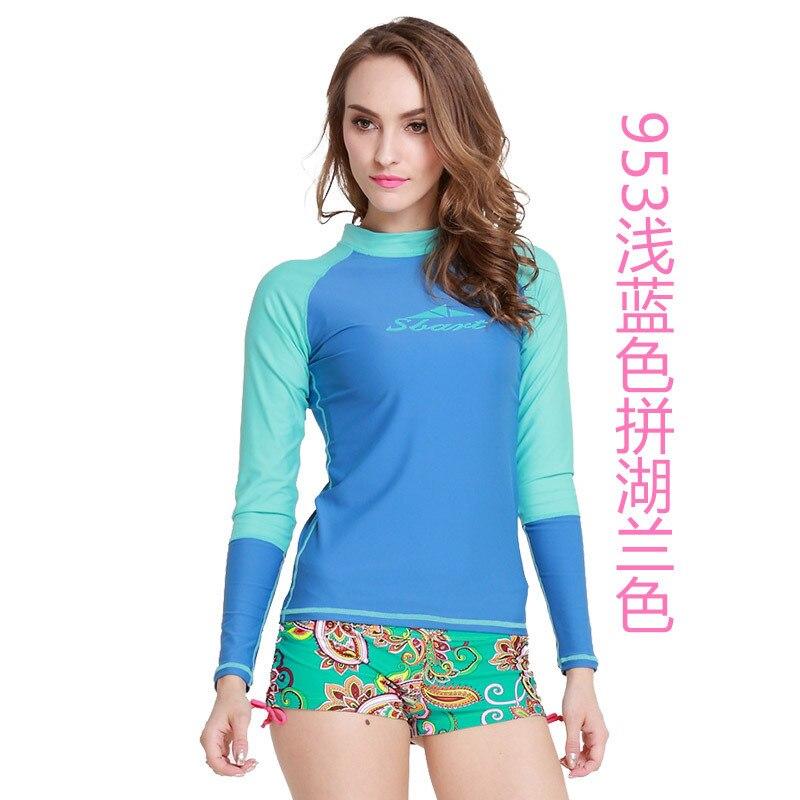d60a821dc Sbart upf 50 girl rashguard swim shirts ladies swim tops long swimming  suits wetsuit on Aliexpress.com | Alibaba Group