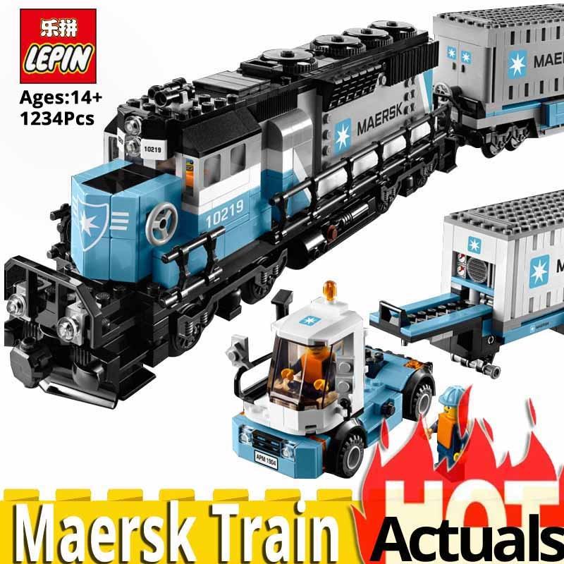 NEW LEPIN Technic Series 21006 Maersk Train Model Building Blocks Bricks Toys For Children compatible LegoINGlys 10219 Christmas