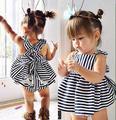 2017 Del Verano Del Bebé Vestidos de Princesa Niños Vestidos de La Raya Niños Ropa Niñas Ropa Trajes BCS173