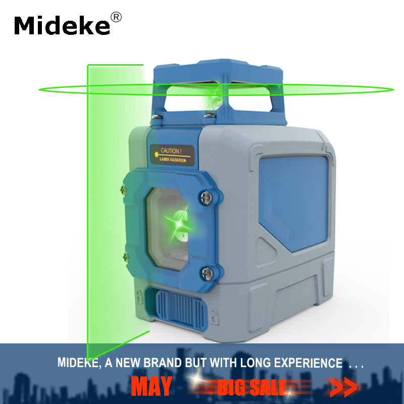 MIDEKE 901CG Laser Level 5 Lines Green Beam Osram diode 3D Horizontal Vertical Line Construction Laser with Pulse Modes in Laser Levels from Tools