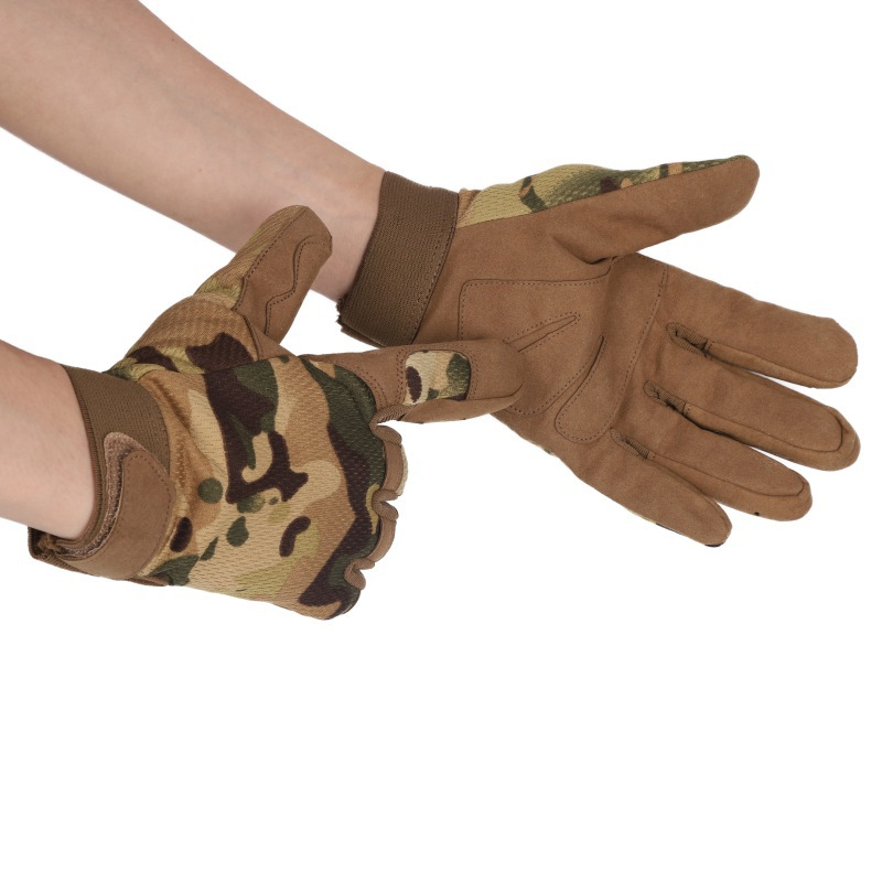 Outdoor Hunting Durable Camouflage Gloves Nylon And Fiber Breathable Sports Cycling Full-fingers Gloves LightweightOutdoor Hunting Durable Camouflage Gloves Nylon And Fiber Breathable Sports Cycling Full-fingers Gloves Lightweight
