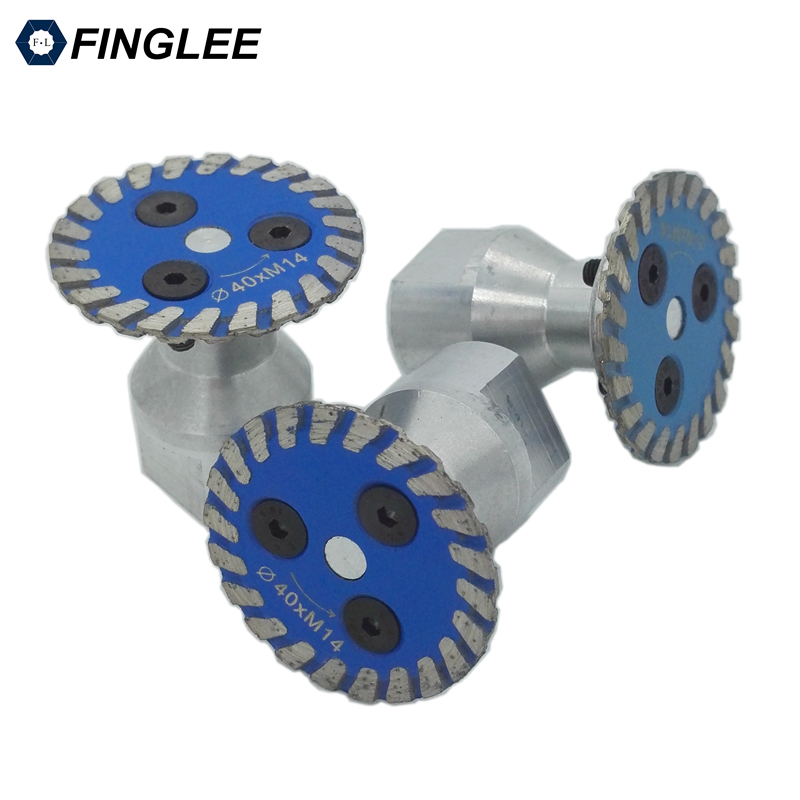 3pcs Mini Diamond Saw Blades Disk 40/50/75 Mm For Granite Cutting Carving Tools Turbo Diamond Disc With 5/8-11 Thread Flange