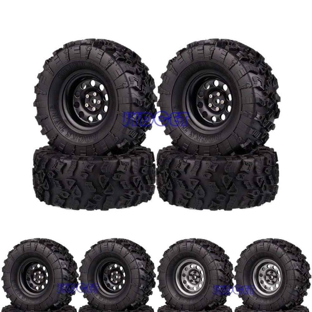 Metal 2.2 Beadlock Wheel & 132mm Tires 4pcs 2024-3022 For RC 1/10 Model Crawler Axial TraxxasMetal 2.2 Beadlock Wheel & 132mm Tires 4pcs 2024-3022 For RC 1/10 Model Crawler Axial Traxxas