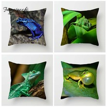цена на Fuwatacchi Animal Cushion Cover Frogs Lizard Chameleon Pillow Cover Cute Green Purple Decorative Pillowcase for Home Sofa Decor