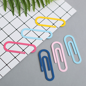 Image 1 - 30 pcs/Lot Large metal paper clip File memo binding tools bookmarks for books Stationery gift Office School supplies A6197
