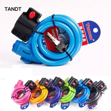 цена на Bicycle lock key anti-theft security MTB pad lock mountain bike wire road bike safety cable lock bicycle protection motorcycle