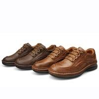 Для мужчин из натуральной кожи Пеший Туризм женская обувь дышащие ботинки прогулочные, скальные треккинг любителей кемпинга; женская обувь