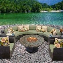 Sigma скидка дешевые Глубокое Сиденье открытый использованная плетеная мебель для продажи