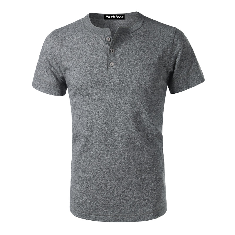 New american casual heavy henley short sleeve t shirt men for Thick t shirts brands