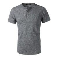 2017 Fashion T Shirt Men Summer New Brand 100 Cotton Henley Shirt Men High Quality Short