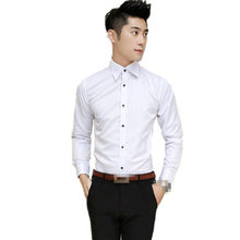 TG6098-A1253 2018 spring Autumn new men fashion long sleeve han edition wear business youth shirt cheap wholesale(China)