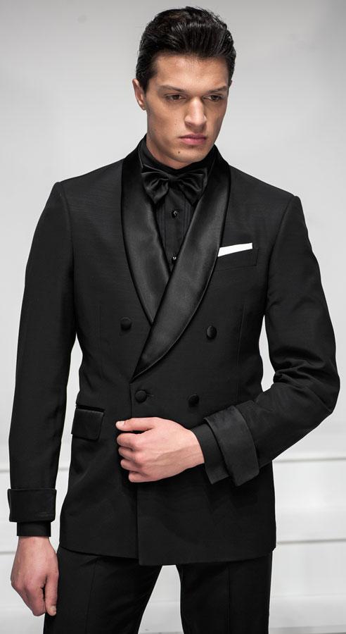 Custom made men suits Black Suit Men Wedding Suits Groom Tuxedos ...