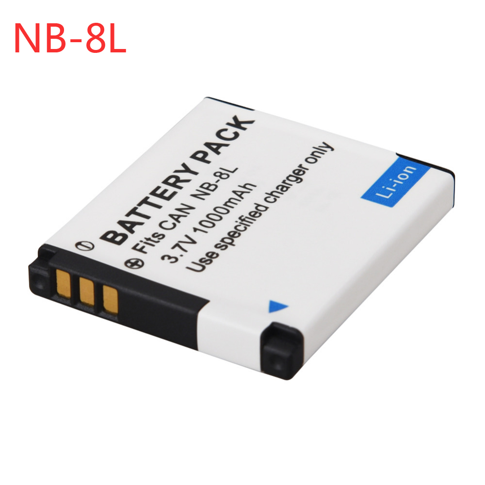 For Canon 1000mAh NB-8L NB8L NB 8L Li-ion Battery For Canon PowerShot A3300 A3200 A3100 A3000 A2200 A1200 IS Camera Battery Pack