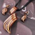 2 pcs  twist gold dust lampwork murano glass necklace earrings jewelry sets Lampwork Jewelry Set Murano Glass Necklace Earrings