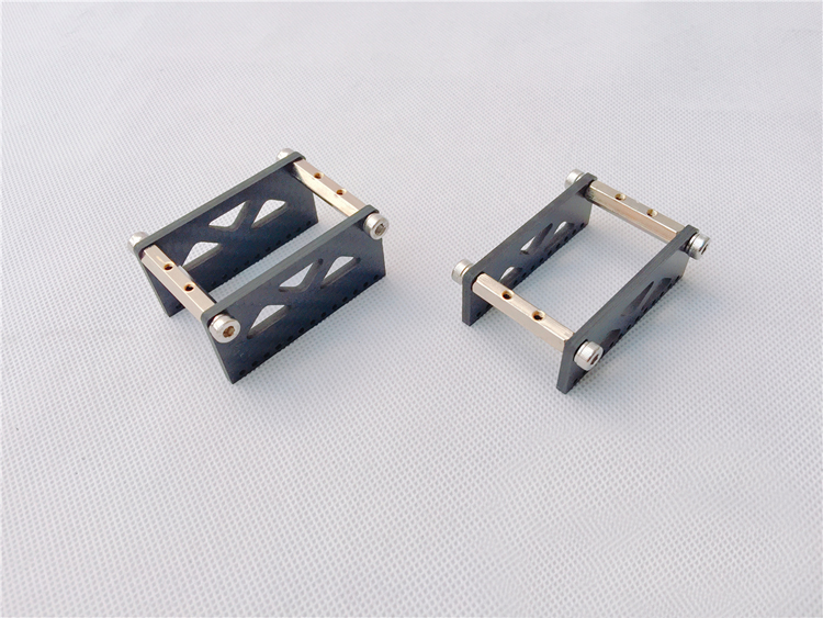 1pc RC Boat Servo Fixed Seat Catamaran Model Carbon Fiber Bracket For Standard Short Servo Supporter Holder 20mm 30mm