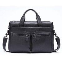LJL Mva Handbag Shoulder Briefcase Leather Business Men'S Bag Leather Shoulder Bag