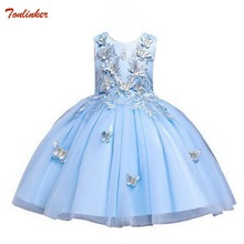 2019 New Summer  Baby girl Ball Gown Dress For Kids Children  Princess Girls  Dresses Party dresses girls Vestidos 3-10 Year цена в Москве и Питере