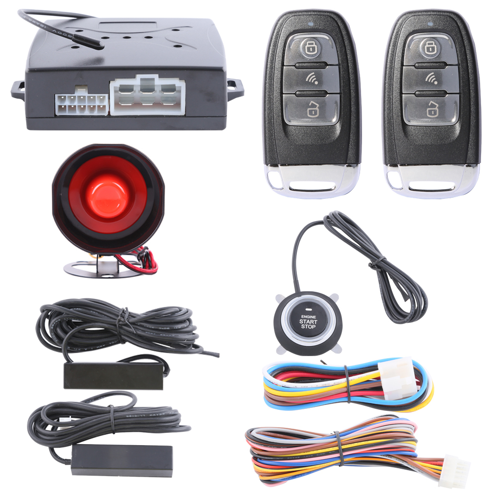 Good use Car alarm system PKE on off by remote control passive keyless entry and push