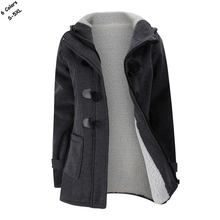 Hot sale Winter lady hooded fleece thick outerwear casual ho