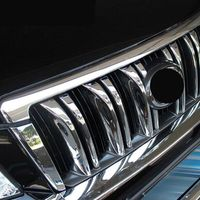 For Toyota Land Cruiser Prado 150 2010 2011 2012 2013 ABS chrome grille parts cover trim car styling Accessories 6pcs