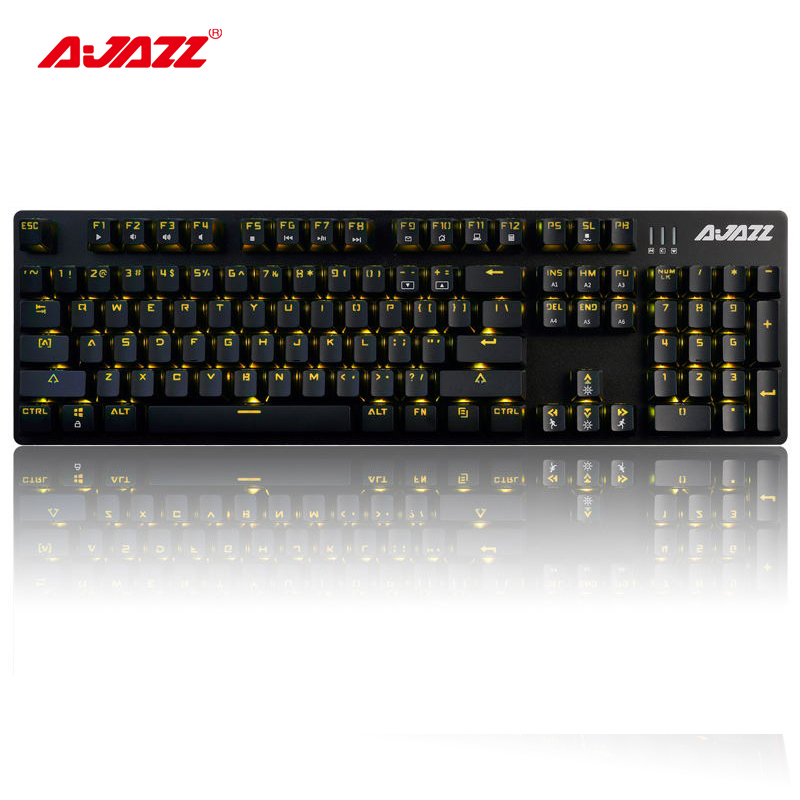 Ajazz ROBOCOP 104 keys wired mechanical gaming keyboard backlight brown/black/blue/red switches anti-ghosting N-key rollover