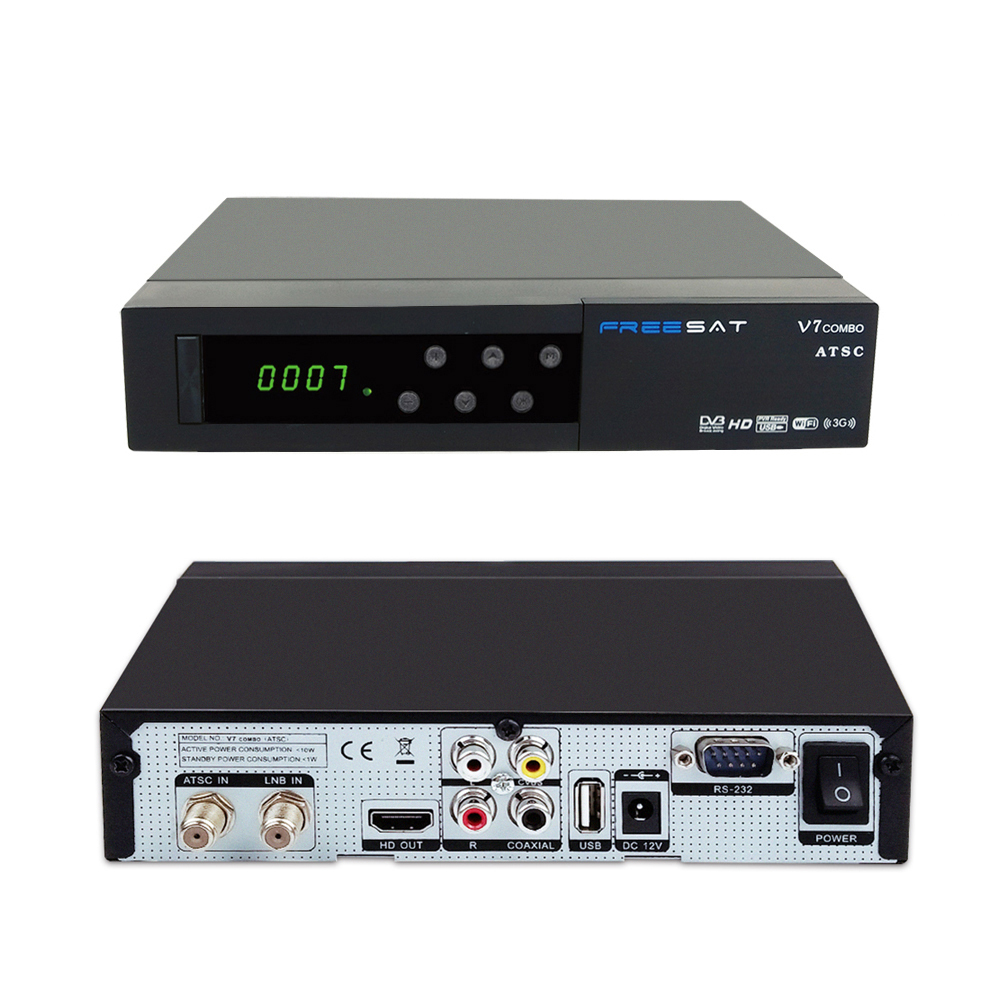 Freesat V7 Combo ATSC Satellite Receiver DVB-S2 + ATSC Combo Receiver Support PowerVu Biss Key Cccam Newcam Youtube цена