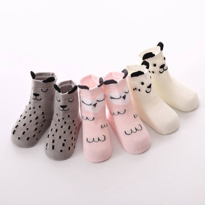 Pudcoco Newest Hot Toddler Baby Girl Boy Non-slip Socks Kids Soft Floor Warm Cotton 0-4y