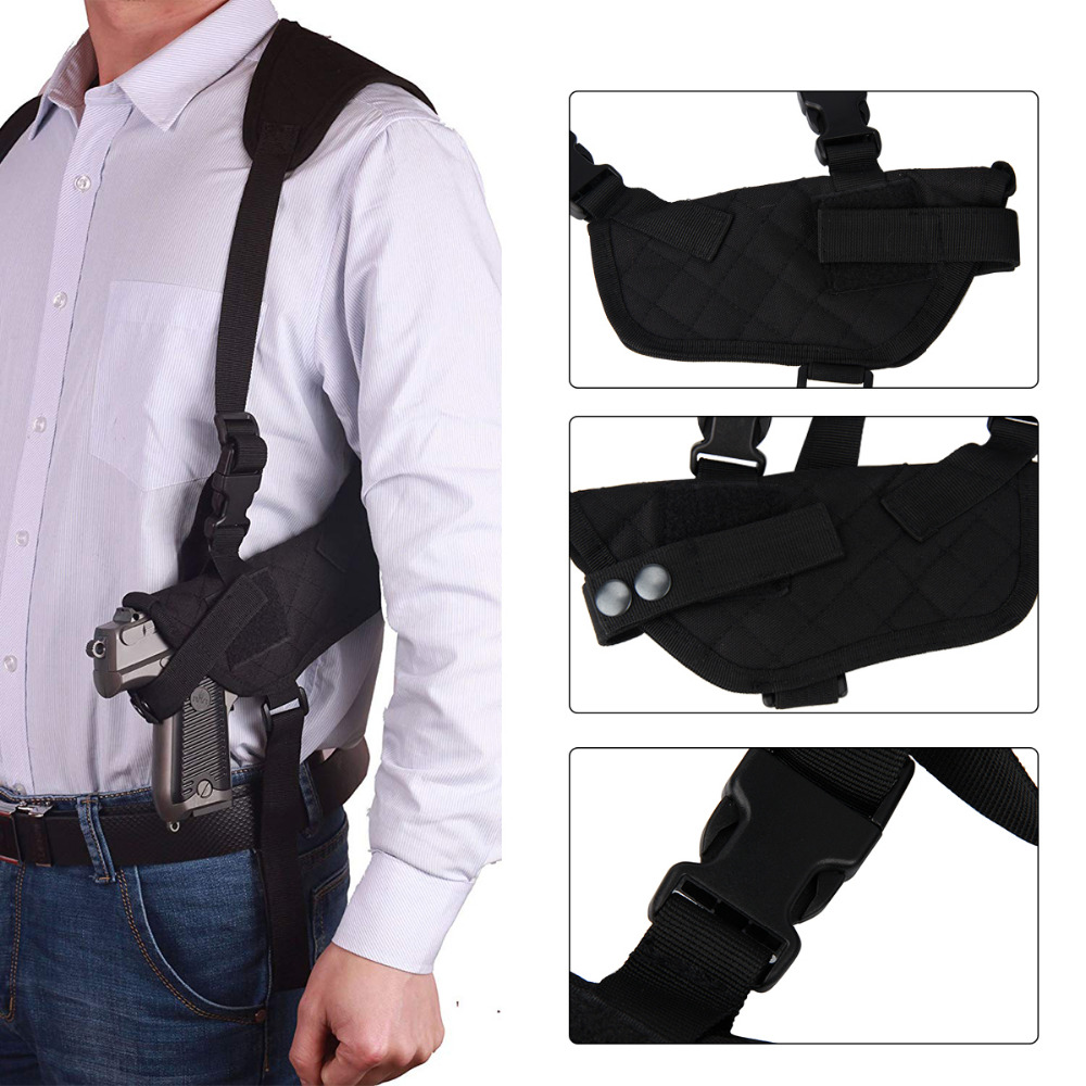 Capable Outdoor Tactical Edc Left Right Hand Tactical Nylon Holster Under Arm Shoulder Double Pistol Gun Pouch Hunting Gun Accessories
