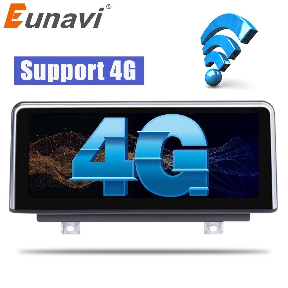 Lecteur stéréo Eunavi Quad core Android 6.0 pour autoradio GPS Navi pour BMW série 3 F30 F31 F34 EVO (6 P) 2018 4G WIFI BT (sans DVD)